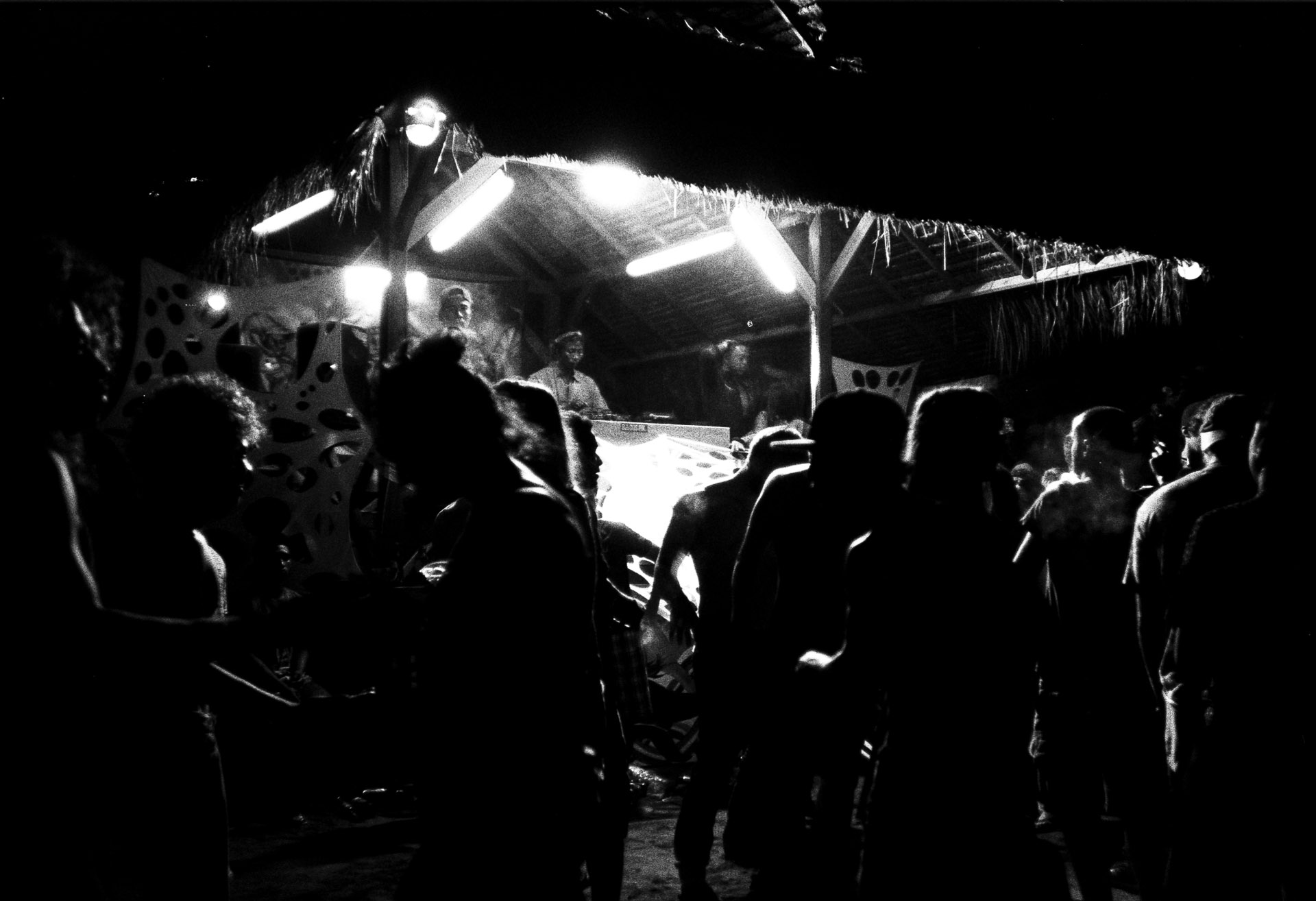 Gili Beach Party - Tri-X @1600, Canon Sureshot Max